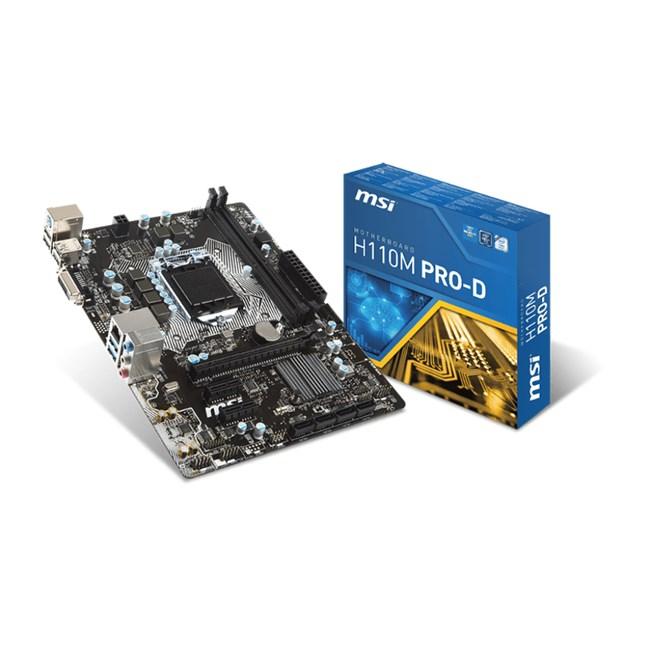 MSI H110M Pro-D DDR4 Dvi GLan 1151Pin